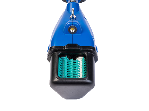 front view teat scrubber